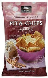 pita chips baked, cinnamon sugar Nob Hill Trading Co. Nutrition info
