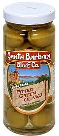 pitted green olives Santa Barbara Olive Co. Nutrition info