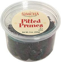 pitted prunes Simcha Nutrition info