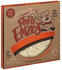 pizza cheese Papa Enzos Nutrition info