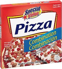 pizza combination Special Value Nutrition info