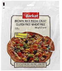 pizza crust brown rice Barkat Nutrition info