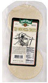 pizza crusts mini Sun of Italy Nutrition info