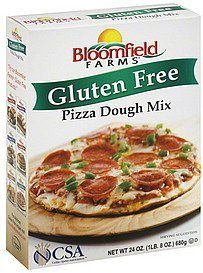 pizza dough mix gluten free BLOOMFIELD FARMS Nutrition info