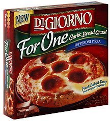 pizza garlic bread crust, pepperoni Digiorno Nutrition info