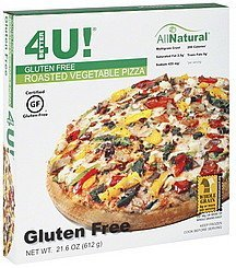 pizza roasted vegetable, gluten free Better 4 U Nutrition info