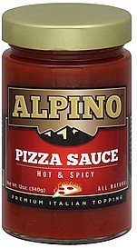 pizza sauce hot & spicy Alpino Nutrition info
