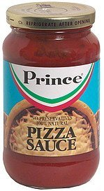 pizza sauce Prince Nutrition info