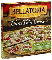 pizza ultra thin crust, roasted vegetable Bellatoria Nutrition info