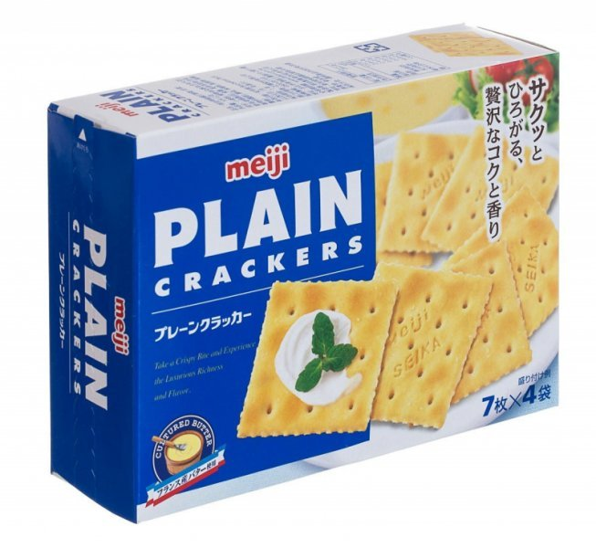 plain cracker Meiji Nutrition info