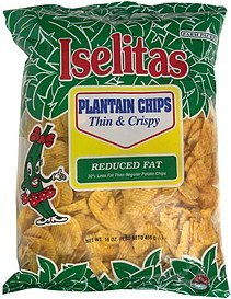 plantain chips thin & crispy Iselitas Nutrition info