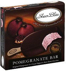 pomegranate bar SheerBliss Nutrition info
