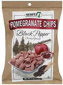 pomegranate chips black pepper Simply 7 Nutrition info