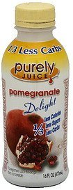 pomegranate juice beverage Purely Juice Nutrition info