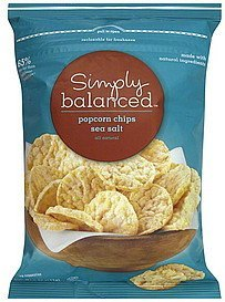 popcorn chips sea salt Simply Balanced Nutrition info