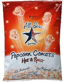 popcorn comets hot & spicy All Star Gourmet Nutrition info