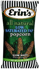 popcorn low saturated fat, low salt Erins Nutrition info