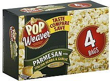 popcorn parmesan with italian herbs & garlic Pop Weaver Nutrition info