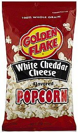 popcorn white cheddar cheese flavored Golden Flake Nutrition info