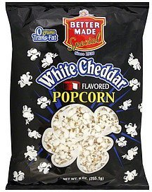 popcorn white cheddar flavored Better Made Nutrition info