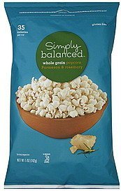 popcorn whole grain, parmesan & rosemary Simply Balanced Nutrition info