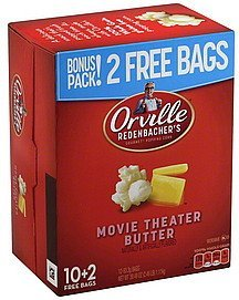 popping corn gourmet, movie theater butter Orville Redenbachers Nutrition info