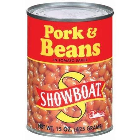 pork and beans in tomato sauce Showboat Nutrition info