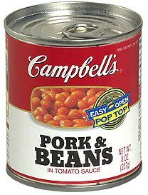 pork & beans in tomato sauce Campbells Nutrition info