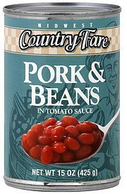 pork & beans in tomato sauce Midwest Country Fare Nutrition info