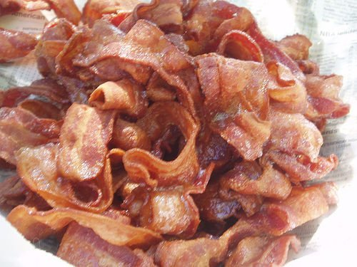 pork, cured, bacon, cooked, microwaved usda Nutrition info
