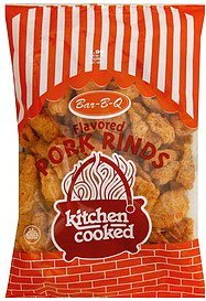 pork rinds bar-b-q flavored Kitchen Cooked Nutrition info