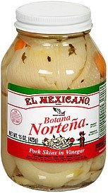 pork skins in vinegar El Mexicano Nutrition info