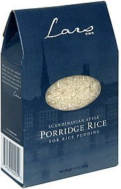 porridge rice scandinavian style Lars Own Nutrition info