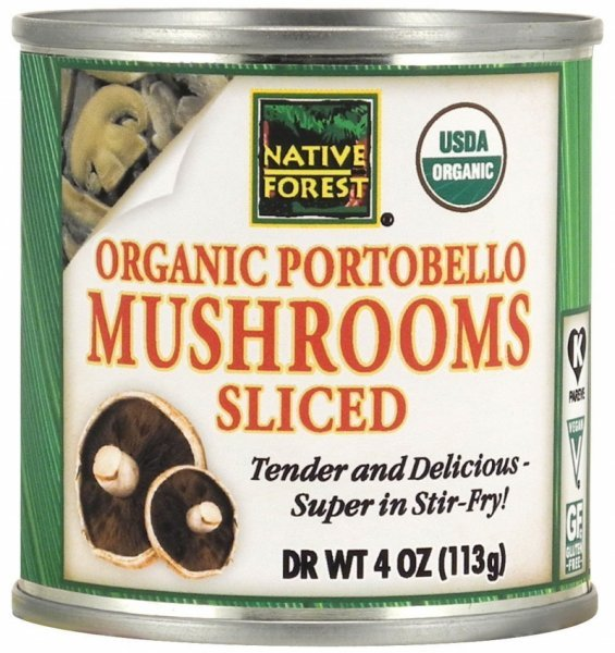 portobello mushrooms organic sliced Native Forest Nutrition info