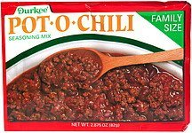 pot-o-chili seasoning mix Durkee Nutrition info
