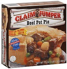 pot pie beef Claim Jumper Nutrition info