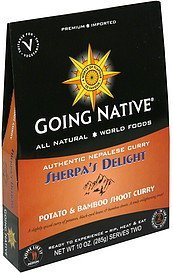 potato and bamboo shoot curry sherpa's delight Going Native Nutrition info
