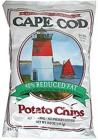 potato chips 40 % reduced fat Cape Cod Nutrition info
