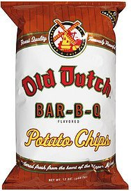 potato chips bar-b-q Old Dutch Nutrition info