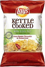 potato chips kettle cooked 40% less fat sun-dried tomato & parmesan Lays Nutrition info