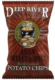 potato chips kettle cooked, asian sweet & spicy Deep River Snacks Nutrition info