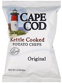 potato chips kettle-cooked, original Cape Cod Nutrition info