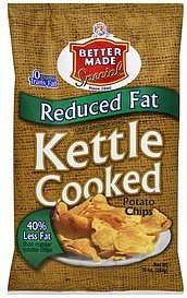 potato chips kettle cooked, reduced fat Better Made Nutrition info