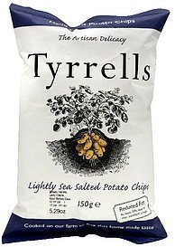potato chips lightly sea salted Tyrrells Nutrition info