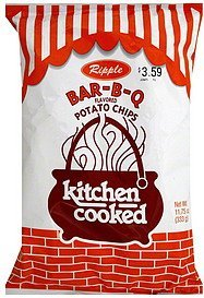 potato chips ripple, bar-b-q flavored Kitchen Cooked Nutrition info
