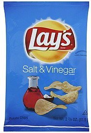 potato chips salt & vinegar Lays Nutrition info
