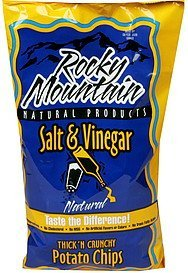 potato chips salt & vinegar Rocky Mountain Nutrition info