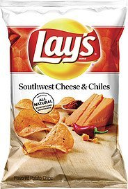 potato chips southwest cheese & chiles Lays Nutrition info