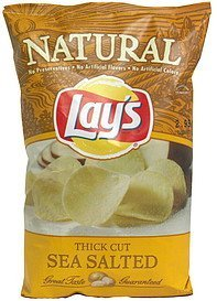 potato chips thick cut sea salted Lays Nutrition info