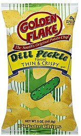 potato chips thin & crispy, dill pickle Golden Flake Nutrition info